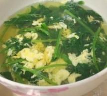 菠菜蛋花湯